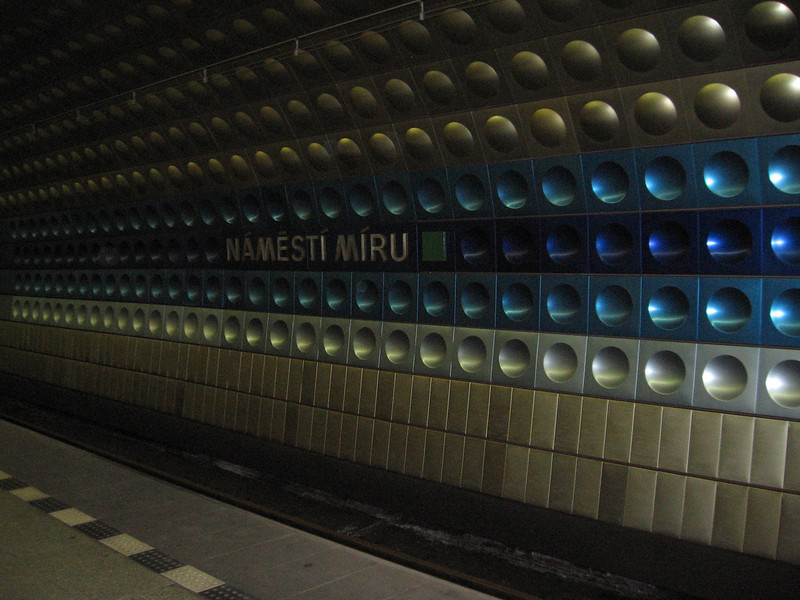 the subway stop by my house.