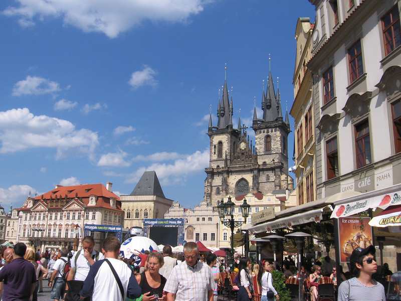 old town square, welcome to tourist central