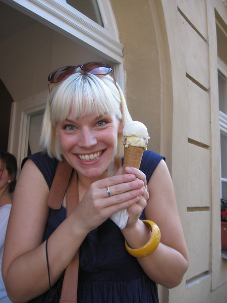 Aimee with her Ice Cream!