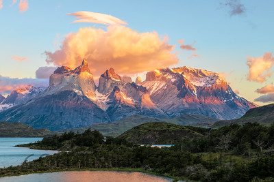 Torres Massif, Torres del Paine, Chile, Sunrise