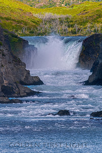 Waterfall, Torres del Paine Chile
