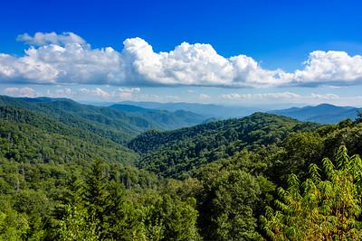 Smokey Mountains from Cherokee NC