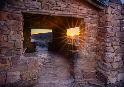 Sunrise at the Skyline Dr Overlook Shelter - Davis Mountains State Park
