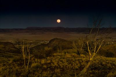 Moonrise Over Fort Davis