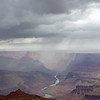 Colorado River and Thunderstorm, Navajo Point/ Grand Canyon NP