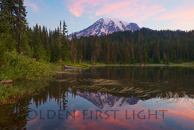 Mt Rainier Sunrise from Reflection Lake, Mt Rainier National Park