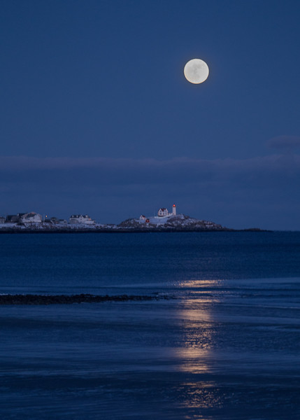 Full Moon over the Nubble