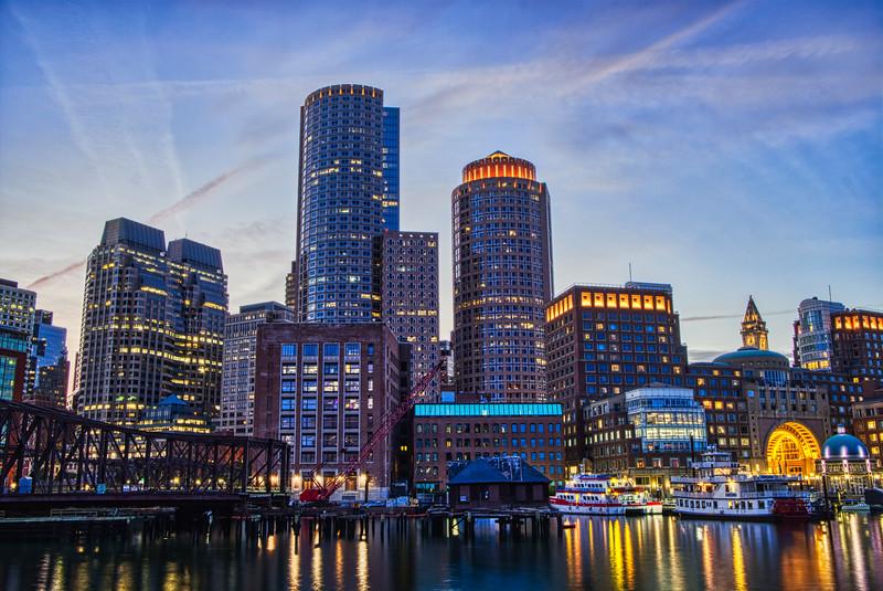 Boston Skyline HDR 2