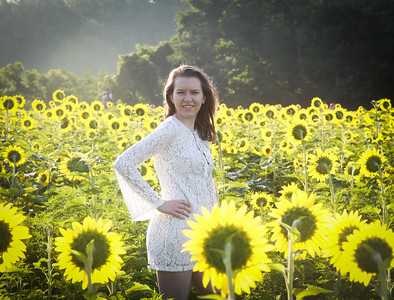Erin - Sunflowers - Field 1 - July 2016