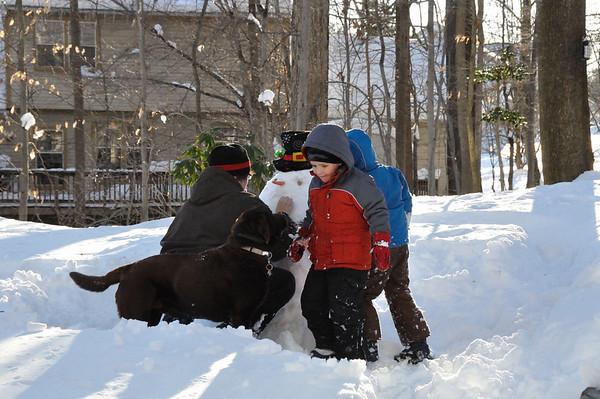 Ian & Asa - February Snow - 2010