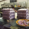Cisco's stack of eggs.  The man working the register told me they go through 3x this many eggs on a Sunday morning.