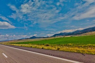 Farm Land and Mountains