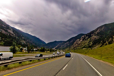Road Sky and Mountains