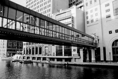 Milwaukee Cityscape on Black and White 35mm Film Photograph 104