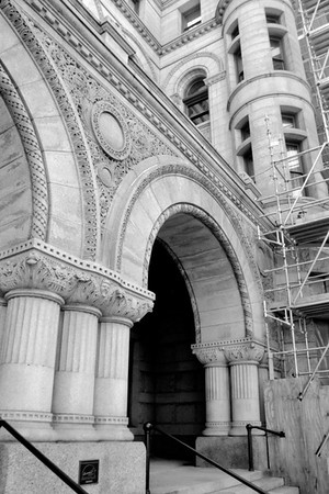 Milwaukee Cityscape on Black and White 35mm Film Photograph 154