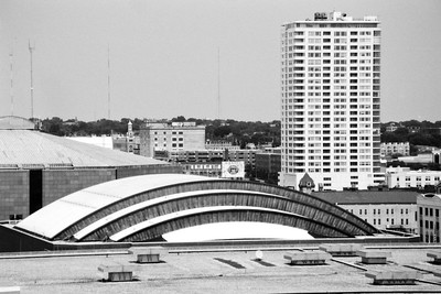Milwaukee Cityscape on Black and White 35mm Film Photograph 119
