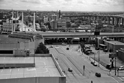 Milwaukee Cityscape on Black and White 35mm Film Photograph 102