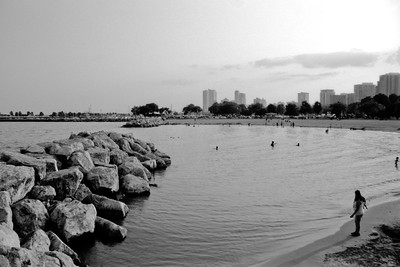 Milwaukee Cityscape on Black and White 35mm Film Photograph 22