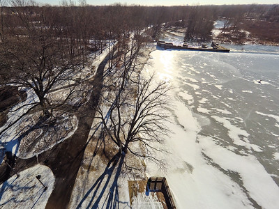 Stepping Stone Falls Clear Winter Day Aerial Photography 7