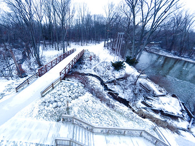 Stepping Stone Falls Soft Light Aerial Photography 17