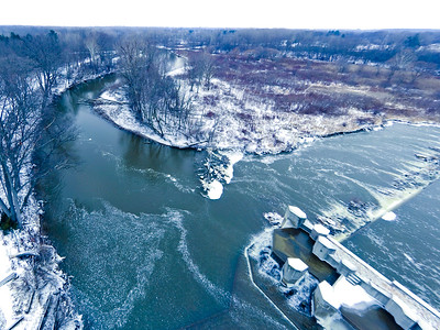 Stepping Stone Falls Soft Light Aerial Photography 20