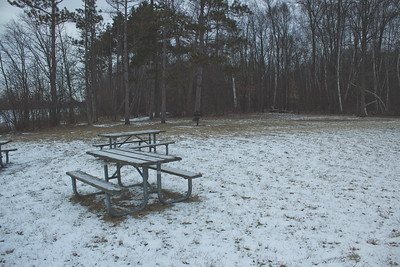 Soft Cloudy Day at Stepping Stone Falls in Flint Michigan Photograph 46