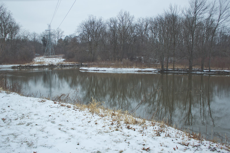 Soft Cloudy Day at Stepping Stone Falls in Flint Michigan Photograph 41