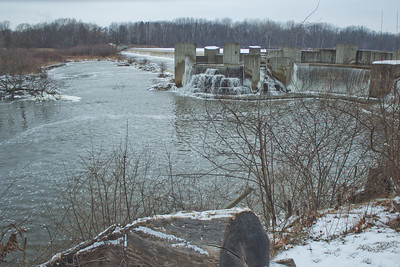 Soft Cloudy Day at Stepping Stone Falls in Flint Michigan Photograph 47