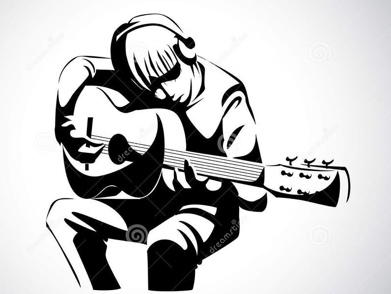 (B8) Guitar Player