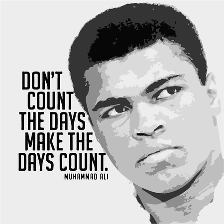 (C8) Muhammad Ali with Quote