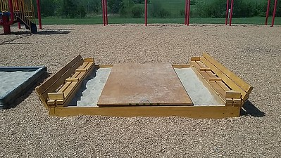 8' x 8' Sandbox Bench (Open)