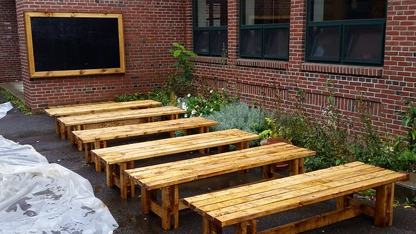 Outdoor Chalkboard and 8' Bench
