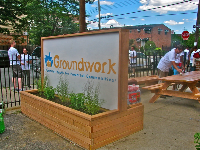 Entrance Sign Planter Bench