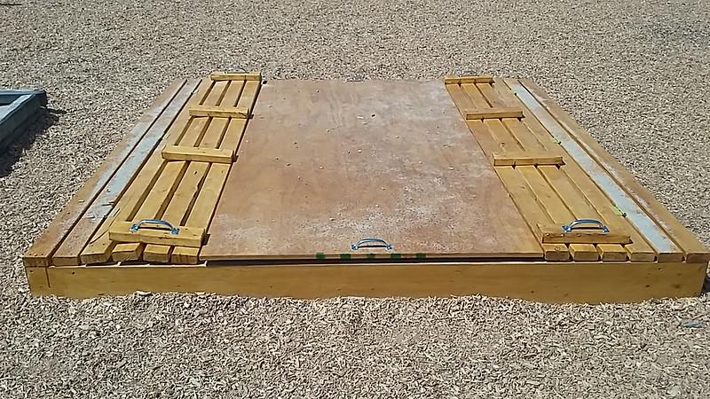 8' x 8' Sandbox Bench (Closed)