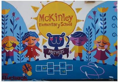(D3) Diversity School Mural with Mascot