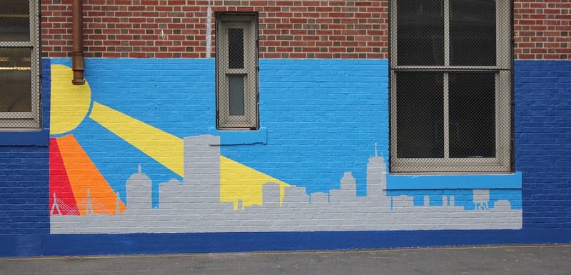 (F7) Colorful Skyline Silhouette