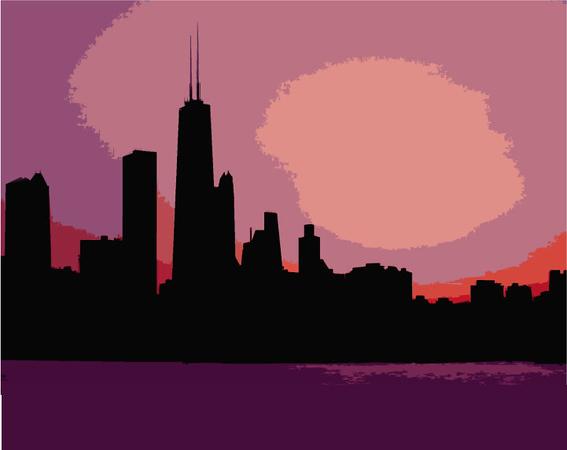 (F1) Chicago Skyline
