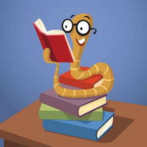 (G5) Worm on Books