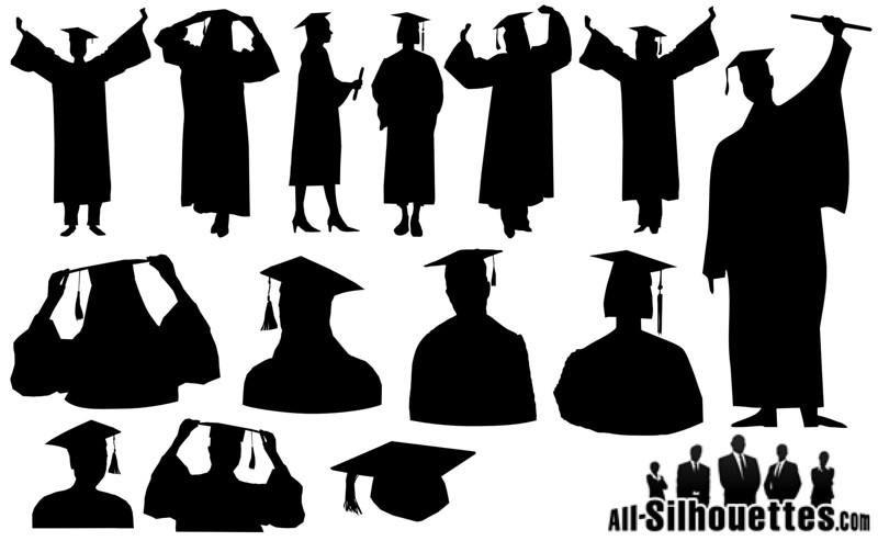 (G40) Various Graduation Sillhouettes