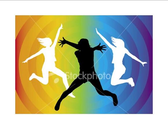(H18) Dance Silhouette Circle