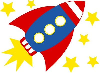 (I13) Rocketship and stars
