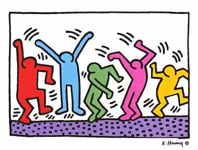 (K10) Haring Dancing