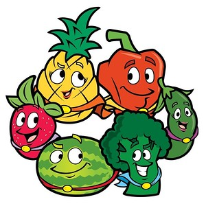 (L18) Happy Fruits and Veggies