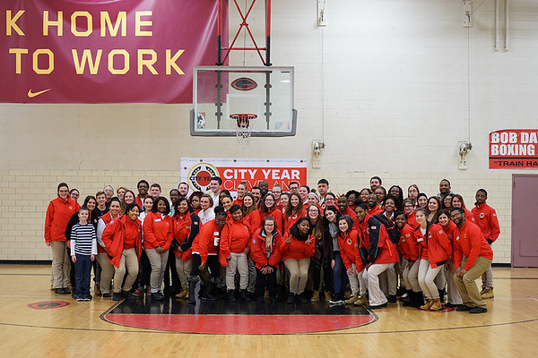 The entire City Year Cleveland community including staff and AmeriCorps members.