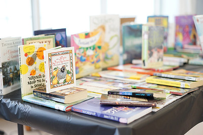 Books donated by the Cleveland Kids' Book Bank.