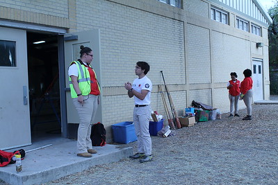 City Year AmeriCorps members prepare the site for Kingdom for Kids XVIII at the Advanced Learning Academy, December 2017.