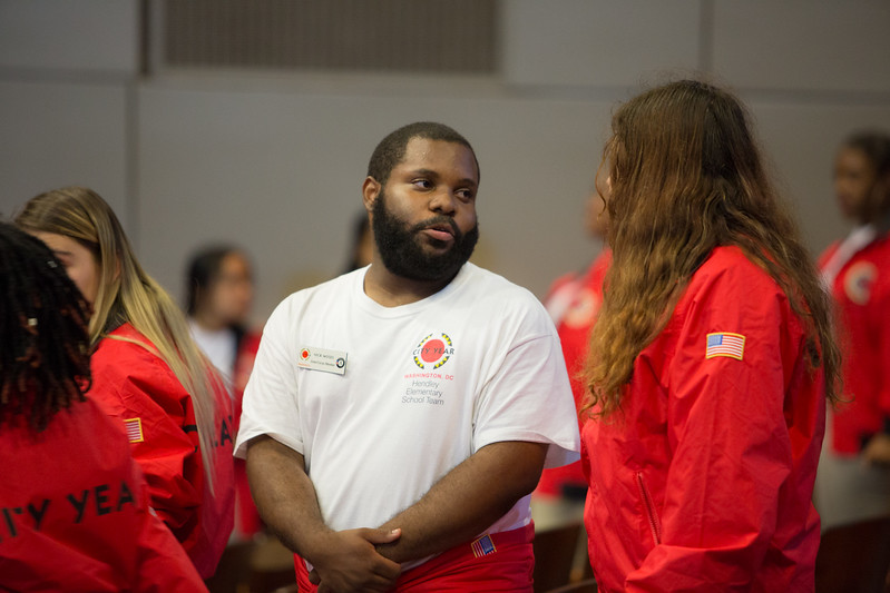 14 September 2017, City Year Washington, DC's Opening Day ceremony at Wilson High School.