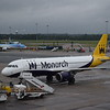 Monarch Airbus A320 G-ZBAH at Birmingham Airport.