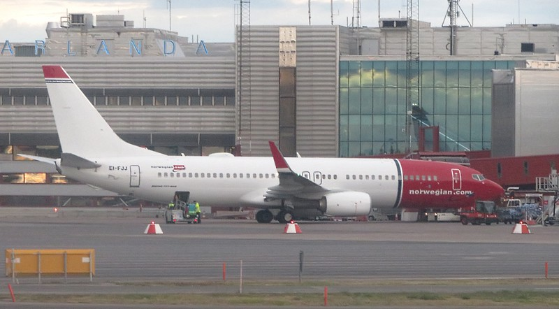 Norwegian Air Shuttle Boeing 737-800 EI-FJJ at Stockholm Arlanda Airport, 13.06.2018.