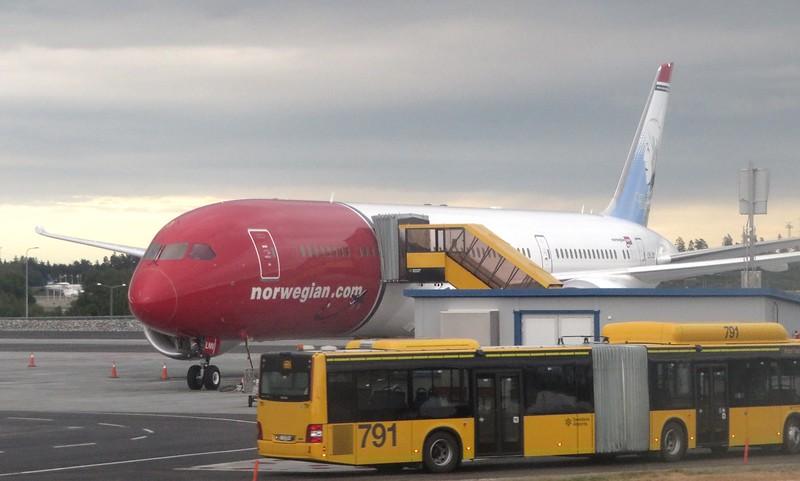 Norwegian Long Haul Boeing 787 Dreamliner at Stockholm Arlanda Airport, 13.06.2018.